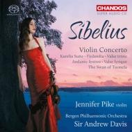 ヴァイオリン協奏曲、フィンランディア、トゥオネラの白鳥、カレリア組曲、他 ジェニファー・パイク、アンドルー・デイヴィス&ベルゲン・フィル