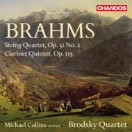 クラリネット五重奏曲、弦楽四重奏曲第2番 マイケル・コリンズ、ブロドスキー四重奏団