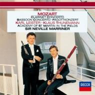 クラリネット協奏曲、ファゴット協奏曲、他 ライスター、トゥーネマン、マリナー&アカデミー室内管