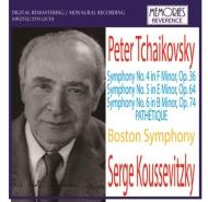 交響曲第4番、第5番、第6番 クーセヴィツキー&ボストン交響楽団(2CD)