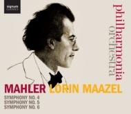 交響曲第4番、第5番、第6番『悲劇的』 ロリン・マゼール&フィルハーモニア管弦楽団(4CD)