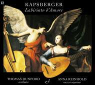 カプスベルガーの八つのトッカータ、およびその他の17世紀イタリア独唱歌 カッチーニ、モンテヴェルディ… トーマス・ダンフォード(リュート)アンナ・レイノルト