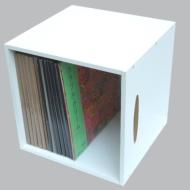 LPレコード用ラック 1マスタイプ(White)