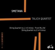 スメタナ:弦楽四重奏曲第1番、第2番、フィビヒ:弦楽四重奏曲 ターリヒ四重奏団