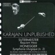 ズーターマイスター:レクィエム、オネゲル:『典礼風』、モーツァルト:交響曲第39番 カラヤン&RAIローマ響、シュヴァルツコップ、他(1953、54)(2CD)