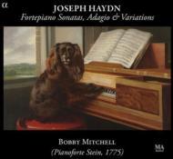 ハイドン:鍵盤のためのソナタ3編、アダージョと変奏曲 ボビー・ミッチェル(フォルテピアノ)