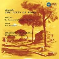 レスピーギ:ローマの松、ベルリオーズ:ローマの謝肉祭、リスト:前奏曲 カラヤン&フィルハーモニア管