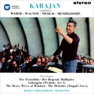 ウェーバー:『魔弾の射手』序曲、メンデルスゾーン:フィンガルの洞窟、ワーグナー:『さまよえるオランダ人』序曲、他 カラヤン&ベルリン・フィル(1960)