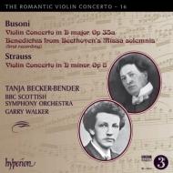 R.シュトラウス:ヴァイオリン協奏曲、ブゾーニ:ヴァイオリン協奏曲、ベートーヴェン/ブゾーニ編:ベネディクトゥス ベッカー=ベンダー、BBCスコティッシュ響