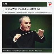 交響曲全集、二重協奏曲(コロンビア響、フランチェスカッティ、フルニエ)、ドイツ・レクィエム(ゼーフリート、ニューヨーク・フィル)、他 ワルター(5CD)