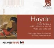 交響曲第49番『受難』、第80番、ヴァイオリン協奏曲第1番 フォン・デア・ゴルツ、フライブルク・バロック・オーケストラ