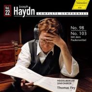 交響曲第103番『太鼓連打』、第98番 ファイ&ハイデルベルク交響楽団