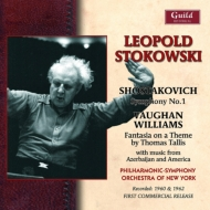 ショスタコーヴィチ交響曲第1番、ヴォーン・ウィリアムズ:タリス幻想曲、アミロフ:交響的組曲、他 ストコフスキー&ニューヨーク・フィル(1960、62)
