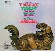 『トゥーランドット』全曲 メータ&ロンドン・フィル、パヴァロッティ、サザーランド、他(1972 ステレオ)(2CD+ブルーレイ・オーディオ)