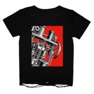 TシャツC(黒 : マシン・未来派/ダメージ加工) 【S】/ BUCK-TICK TOUR 2014 metaform nights 〜或いはアナーキー〜