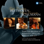 Triple Concerto: Argerich(P)R.capucon(Vn)Maisky(Vc)Rabinovitch / Svizzera Italiana O +schumann