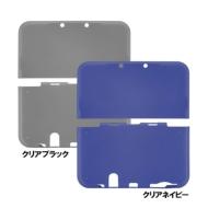 Newニンテンドー3DS LL用 CYBER・TPUカバー(クリアブラック)