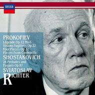 プロコフィエフ:『束の間の幻影』より、ショスタコーヴィチ:『24の前奏曲とフーガ』より リヒテル