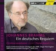 ドイツ・レクィエム ノリントン&シュトゥットガルト放送響、シュトゥットガルト声楽アンサンブル、北ドイツ放送合唱団、ラントシャマー、ベッシュ