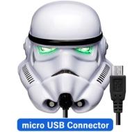 Micro USBコネクタ 顔型AC充電器2A/ STARWARS(ストームトルーパー)