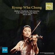 チャイコフスキー:ヴァイオリン協奏曲、シベリウス:ヴァイオリン協奏曲 チョン・キョンファ、デュトワ、マーツァル、フランス国立管(1978、73 ステレオ)