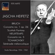 ブルッフ:ヴァイオリン協奏曲第1番、スコットランド幻想曲、ヴュータン:ヴァイオリン協奏曲第5番、他 ハイフェッツ、サージェント&ロンドン新響、他