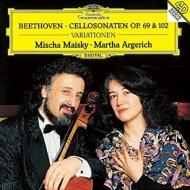 チェロ・ソナタ第3番、第4番、第5番、『マカベウスのユダ』の主題による変奏曲 マイスキー、アルゲリッチ
