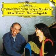 ヴァイオリン・ソナタ第5番『春』、第4番 ギドン・クレーメル、マルタ・アルゲリッチ