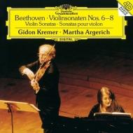 ヴァイオリン・ソナタ第6番、第7番、第8番 ギドン・クレーメル、マルタ・アルゲリッチ