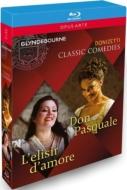 『ドン・パスクァーレ』全曲(マッツォーラ指揮、ドゥ・ニース)、『愛の妙薬』全曲(ベニーニ指揮、シウリーナ) グラインドボーン2013、2009(2BD)