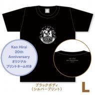 キラキラTシャツ ブラック【L】/ Ken Hirai 20th Anniversary Goods