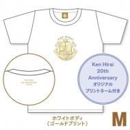 キラキラTシャツ ホワイト【M】/ Ken Hirai 20th Anniversary Goods