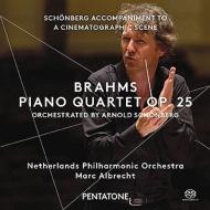 ブラームス:ピアノ四重奏曲第1番(シェーンベルク編曲管弦楽版)、シェーンベルク:映画の一場面への伴奏音楽 M.アルブレヒト&オランダ・フィル