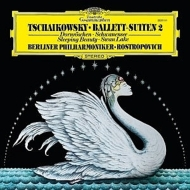 「白鳥の湖」組曲、「眠りの森の美女」組曲:ムスティスラフ・ロストロポーヴィチ指揮&ベルリン・フィルハーモニー管弦楽団 (180グラム重量盤レコード)