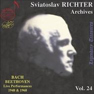 バッハ:イギリス組曲第3番、カプリッチョ変ロ長調、ベートーヴェン:ピアノ・ソナタ第22番、他 リヒテル(1948年モスクワ・ライヴ)、他