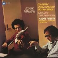 ゴルトマルク:ヴァイオリン協奏曲第1番、サラサーテ:ツィゴイネルワイゼン パールマン、プレヴィン&ピッツバーグ響