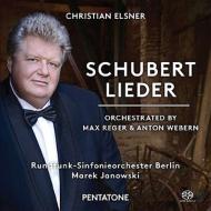 歌曲集〜レーガー、ヴェーベルン編曲による管弦楽伴奏版 エルスナー、ヤノフスキ&ベルリン放送響