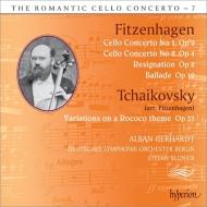 フィッツェンハーゲン:チェロ協奏曲第1番、第2番、チャイコフスキー:ロココ変奏曲、他 アルバン・ゲルハルト、ブルーニエ&ベルリン・ドイツ響