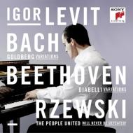 バッハ:ゴルトベルク変奏曲、ベートーヴェン:ディアベリ変奏曲、ジェフスキー:『不屈の民』変奏曲 イゴール・レヴィット(3CD)