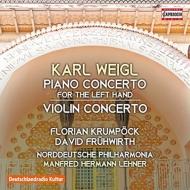 左手のためのピアノ協奏曲、ヴァイオリン協奏曲 クルムペック、フリューヴィルト、レーンナー&北ドイツ・フィル