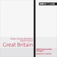 イギリス現代合唱曲集〜マクスウェル・デイヴィス、ブリテン、タヴナー、他 クリード&シュトゥットガルトSWR声楽アンサンブル