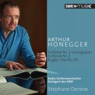交響曲第2番、第3番、パシフィック231、ラグビー ドゥネーヴ&シュトゥットガルト放送交響楽団