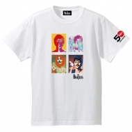 The Beatles 4 Faces White Tee L