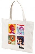 The Beatles 4 Faces White Tote Bag