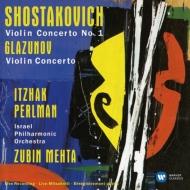 ショスタコーヴィチ:ヴァイオリン協奏曲第1番、グラズノフ:ヴァイオリン協奏曲 パールマン、メータ&イスラエル・フィル