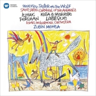 Prokofiev Peter & Wolf, Saint-Saens Le Carnaval des Animaux : Mehta / Israel Philharmonic, Perlman(Nartr)K & M.Labeque(P)