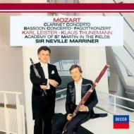 クラリネット協奏曲、ファゴット協奏曲 ライスター、トゥーネマン、マリナー&アカデミー室内管