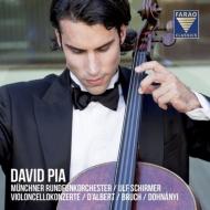 ダルベール:チェロ協奏曲、ブルッフ:コル・ニドライ、カンツォーネ、他 ダーヴィト・ピア、シルマー&ミュンヘン放送管