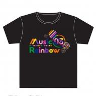 黒(L)Tシャツ Music Rainbow 03