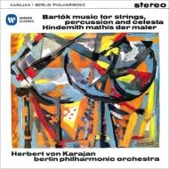 Bartok Music for Strings Percussion & Celesta, Hindemith Mathis der Maler : Karajan / Berlin Philharmonic (1960, 1957)